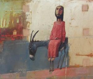 Jesus' Triumphal Entry into Jerusalem by Oleksandr Antonyuk